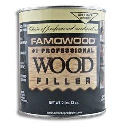 FAMOWOOD Original Wood Filler - Birch - Quart Net Wt 45oz(1,275g)