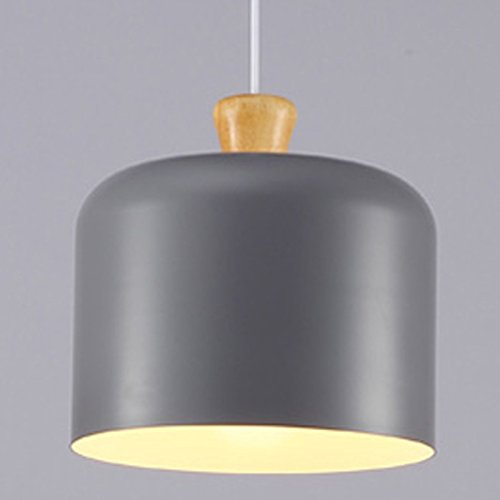 (Cheerhuzz New Modern Small Size Gray Aluminum Pendant Lamp Simple Ceiling light Chandelier Fixture PL479-SGE)