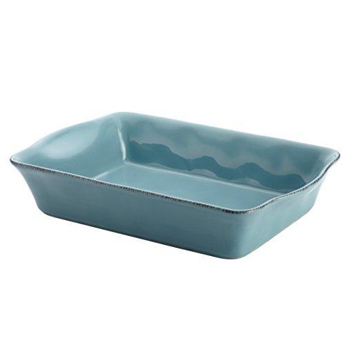Rachael Ray Cucina Stoneware 9-Inch x 13-Inch Rectangular Baker, Agave Blue by Rachael Ray
