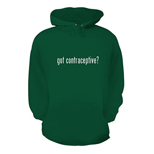 got contraceptive? – A Nice Men's Hoodie Hooded Sweatshirt, Green, Large