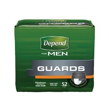 Depend For Men Incontinence Guards, Maximum Absorbency 52 ea (2 pack)