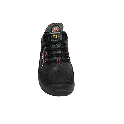 AIMONT Calzado Negro hombre protección negro de para Piel de Negro Negro wwaxqf