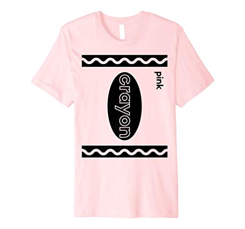 Funny Last Minute Group Costume Halloween Idea | Pink Crayon Premium T-Shirt