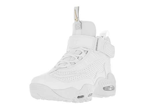 NIKE Kids Air Griffey Max 1 (GS) White/White Blue Glow Mtlc Gld Training Shoe 7 Kids US