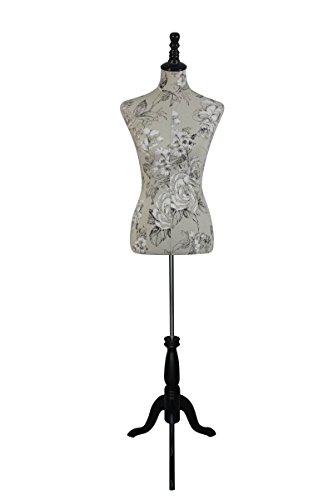 Female Dress Form Mannequin W/ Black Wooden Tripod Base Size 6-8 Medium 34