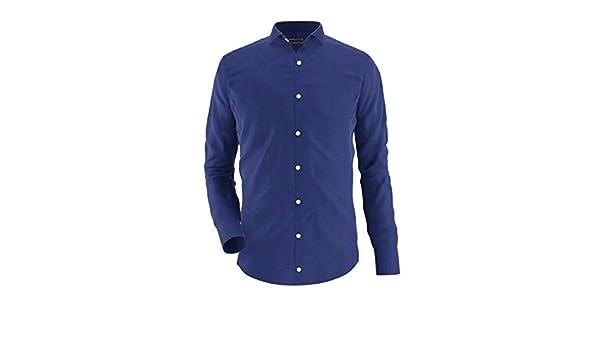 Noldemann - Camisa de Vestir de Alto Rendimiento Azul Navy: Amazon ...