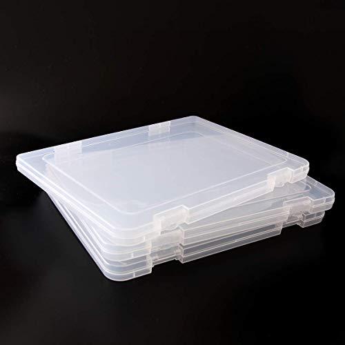 3pcs A4 Document Storage Box Portable Clear Project Case Desk Document Paper Organizer Office Supplies Holder