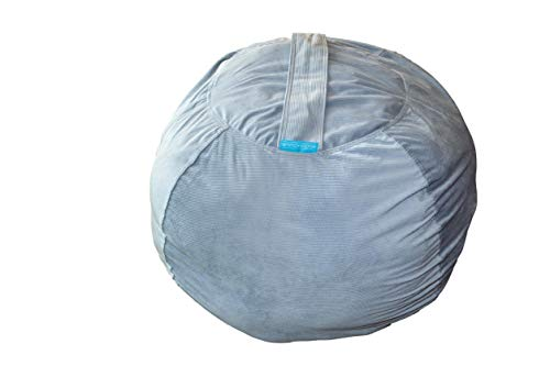 Stuffed animal storage bean bag chairs. Great touch, WASHABLE CORDUROY cover becomes a DELUXE bean bag chair. Kids tidy up! Ideal, soft but strong storage solution for too MANY stuffies!