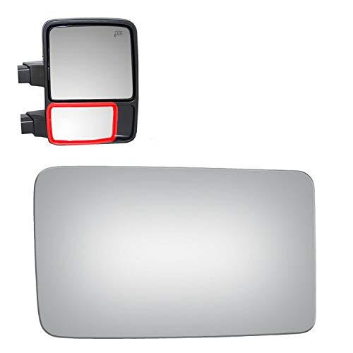 - WLLW Mirror Glass for 13-14 F-150 08-16 F250 F350 F450 Super Duty Passenger Side (Lower Convex)