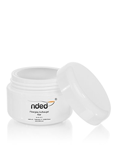 nded Fiberglass Builder Gel, Clear, Central Viscosic, NDED, 15 ml, medium viscosity, UV suitable