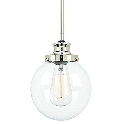 Progress Lighting Penn Collection 1-Light Polished Nickel Mini-Pendant