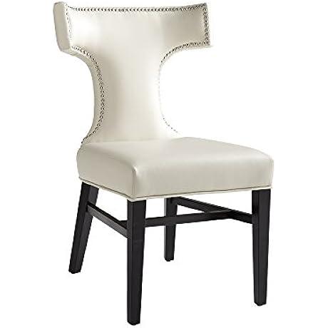 Sunpan Modern Serafina Leather Dining Chair Set Of 2 Cream
