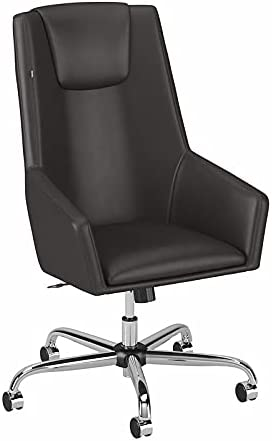 Easy Office High Back Leather Box Chair in Brown