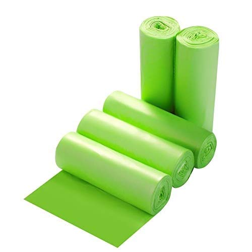 Small Trash Bags 4-Gallon Biodegradable - 100 Counts/ 5 Rolls Recycling and Degradable Garbage Bags Trash Can Liners for Bathroom Kitchen and Office.