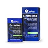Canprev ElectroMag Magnesium Bis-Glycinate + Vitamin C & Electrolytes Effervescent Sugar Free Electric Lime FlavourDrink Mix, 30 packets