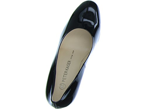 Peter Kaiser Flademara Trendy Ombre Heel Court Shoes in Black Patent Black YcL34w7J