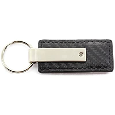 Au-Tomotive Gold, INC. Jeep Grand Cherokee Black Carbon Fiber Texture Leather Key Chain: Automotive