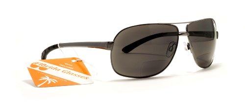 FG Tom Cruise Style Aviator Polarized Bifocal Reading Sunglasses +150, 200, 250, 300 Power Magnifier Sun Glasses