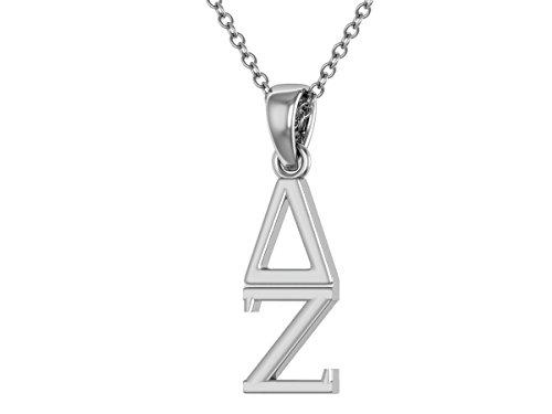 KING Delta Zeta Necklace 18 - Sterling Silver