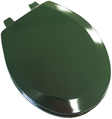 Phenomenal Deluxe Molded Wood Elongated Toilet Seat Color Hunter Green Short Links Chair Design For Home Short Linksinfo