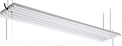 72W 4 ft. Hanging Shop Light Power Switch Fixture with 4x LED T8 72W Tubes 4000K