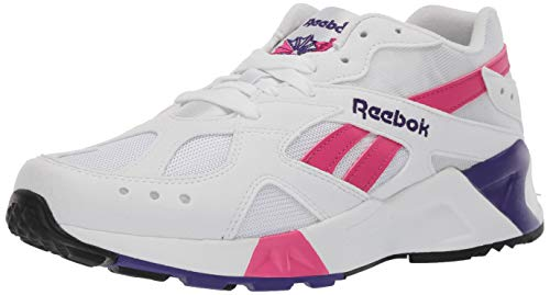 Reebok Unisex Adult's AZTREK Sneaker, White/Rose/Cobalt/Purple, 10 M US