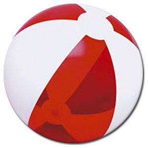 Beachballs - 16'' Translucent Red & White Beach
