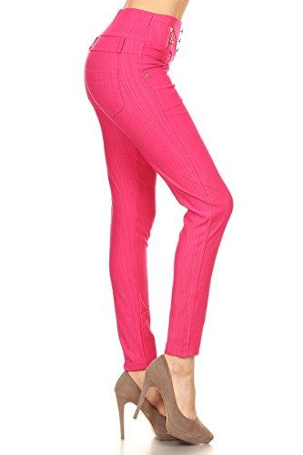 Leggings Depot Ultra Soft Basic Stylish Best Seller Leggings Pants(ONE SIZE, PINK)