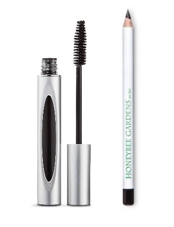 Honeybee Gardens Pretty Peepers Value Gift Set, Black Magic Mascara & Jet Set Eye Liner