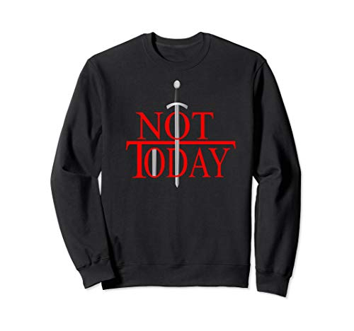 Not Today What Do We Say To The God Of Death?Funny Christmas Sweatshirt (Black Heather Death 2019 Christmas)