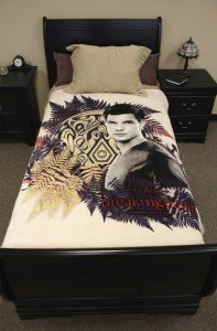 Twilight Breaking Dawn Blanket - Jacob With Tattoo And Ferns