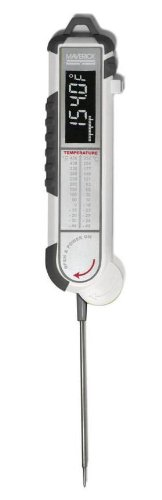 Maverick PT-100 Pro-Temp Commercial Smoker BBQ Probe Meat Thermometer, 5-Inch, White/Gray
