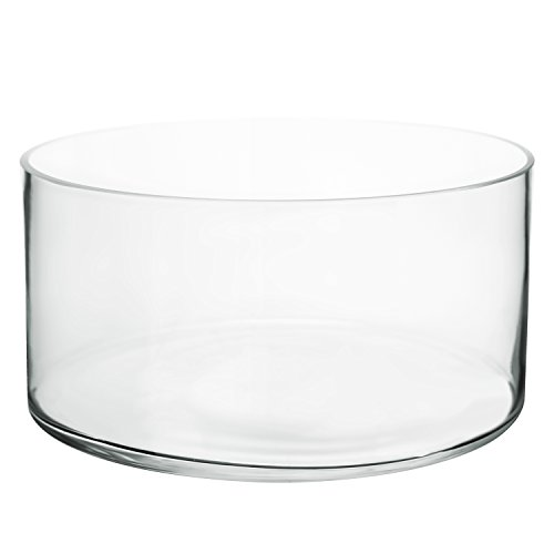 Clear Flower Bowl (Flower Glass Vase Decorative Centerpiece For Home or Wedding by Royal Imports - Cylinder Shape, 4