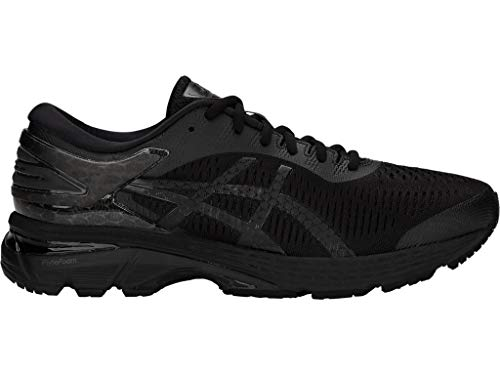 ASICS Men's Gel-Kayano 25 Running Shoes, 9.5M, Black/Black
