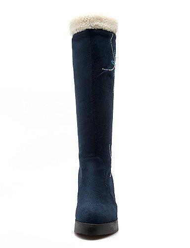 XZZ  Damenschuhe - - - Stiefel - Kleid   Lässig - Vlies - Keilabsatz - Wedges   Plateau   Rundeschuh   Modische Stiefel - Schwarz   Marineblau B01L1GTEGW Sport- & Outdoorschuhe Angemessene Lieferung und pünktliche Lieferung 3d7335