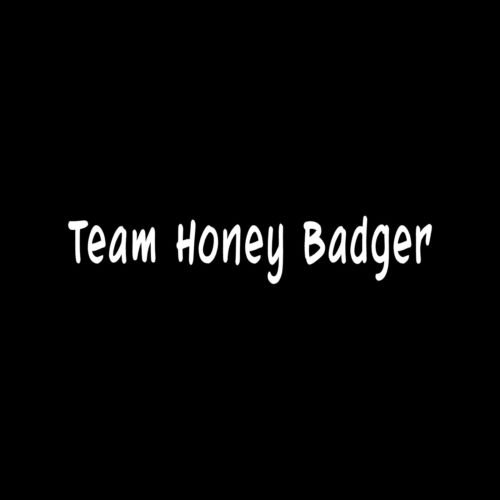 TEAM HONEY BADGER Sticker Vinyl Decal Car Window Funny laptop hilarious gift - Die cut vinyl decal for windows, cars, trucks, tool boxes, laptops, MacBook - virtually any hard, smooth surface (Hilarious Window Decals compare prices)