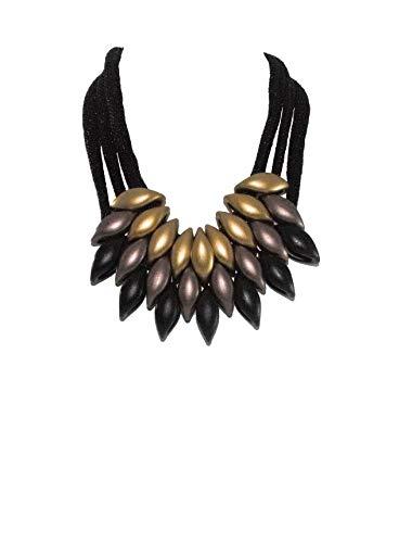 Rich Capital Ventures Ethnic Unique Bohemian Black Necklace (Multi)