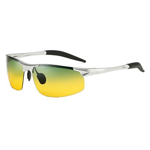 Metálico de La De La del Plata Hombres Polarizadas Color Gafas Los De Plata TLMY Gafas Sol Marco Sol PxfqYqBFS