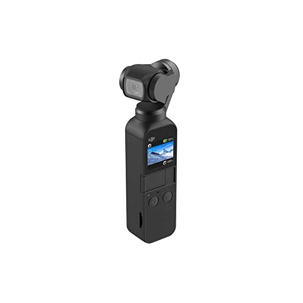 DJI OSMO Pocket Handheld 3 Axis Gimbal Stabilizer with Integrated Camera, Attachable to Smartphone, Android, iPhone 1