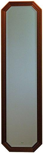 イタリア製 JHAアンティーク風水ミラー シンプル (ブラウン)八角形W375×H1373 IE-40-1 八角ミラー 八角鏡 姿見 姿見鏡 壁掛け鏡 ウォールミラー B01KQIK28A ブラウン ブラウン