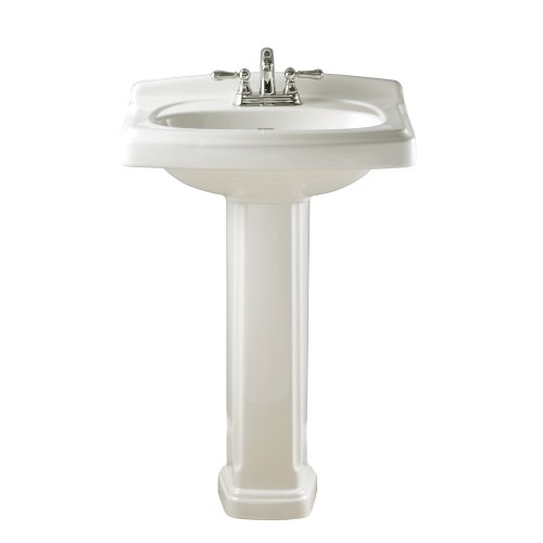 - American Standard 0555.401.020 Townsend Pedestal Bathroom Sink with 4-Inch Faucet Spacing, White
