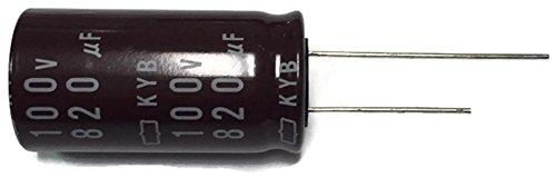 - Set of 1, 105°C Electrolytic Capacitor 820uF 100V (820 mfd 100V) 20% Radial, 11/16