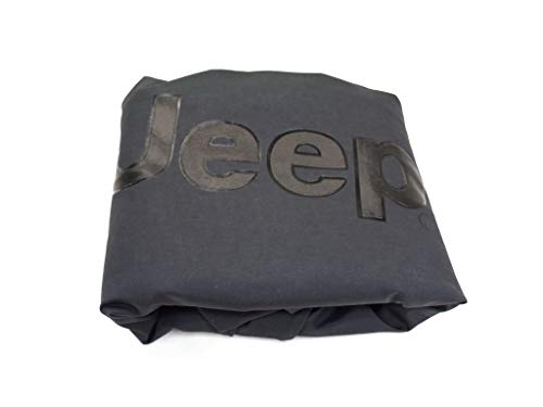 Jeep Anti Theft Spare Tire Cover W/ Black Jeep Logo