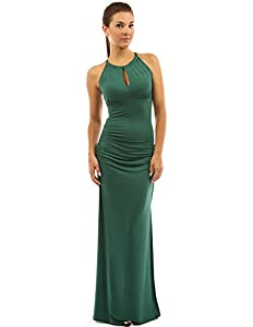 33. PattyBoutik Keyhole Ruched Sides Slit Maxi Dress