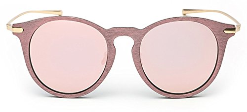Coolzdt The New Style Color Mirror European and American Fashion Current Sunglasses Driving Mirror (Pink - Oklay Sunglasses