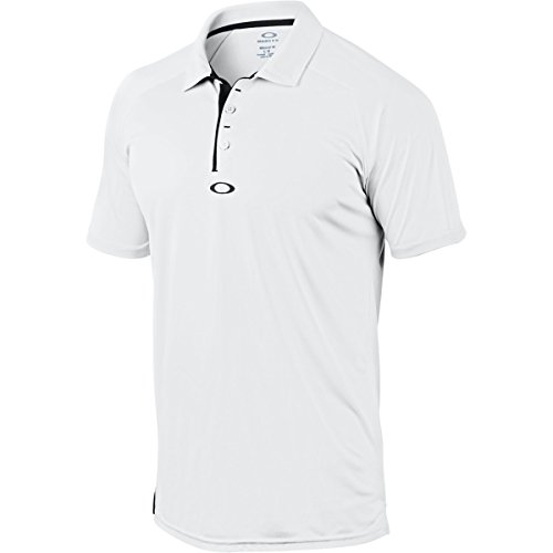 Oakley Men's Standard Elemental 2.0 Polo, White, Large