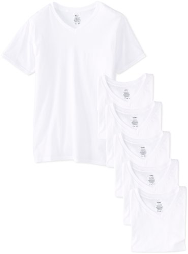 Gildan Platinum 6-Pack V-Neck T-Shirt White X-Large