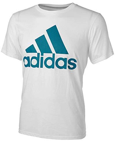 cc0dde24 adidas Men's Badge of Sport Graphic Tee (Large, Blast White/Savvy Teal)