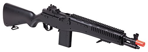 Crosman GFASM14B M14 Spring Powered Single Shot Bolt Action Infantry Carbine, Black, 6.0mm ()