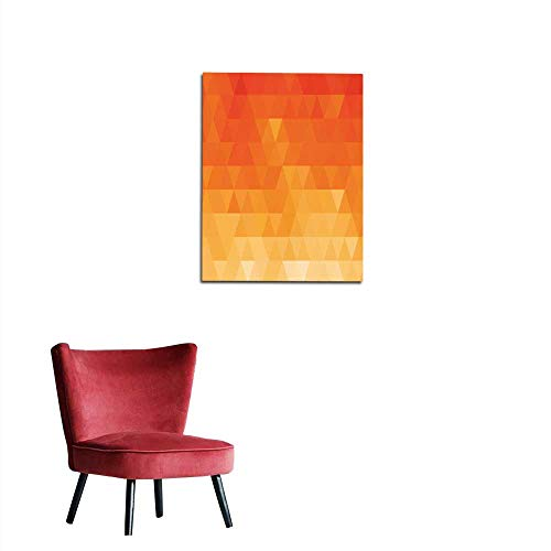 longbuyer Painting Post Abstract Color Mosaic Background Orange Triangle Pattern Mural 20